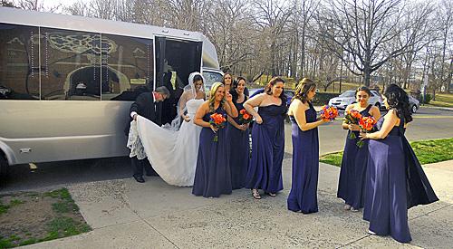 new england wedding limousine
